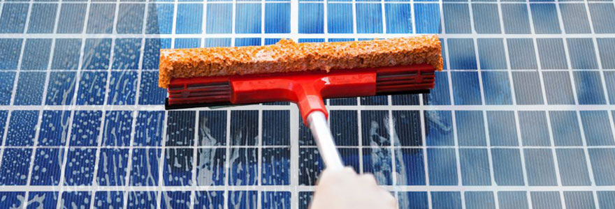 nettoyer vos panneaux solaires